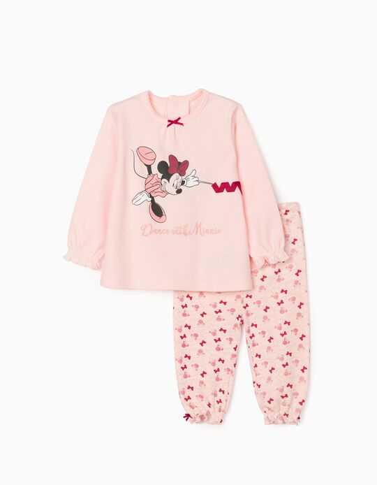 Pijama para Bebé Niña 'Dance with Minnie', Rosa