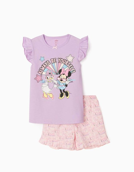 Pyjama fille 'Minnie & Daisy', lilas/rose clair