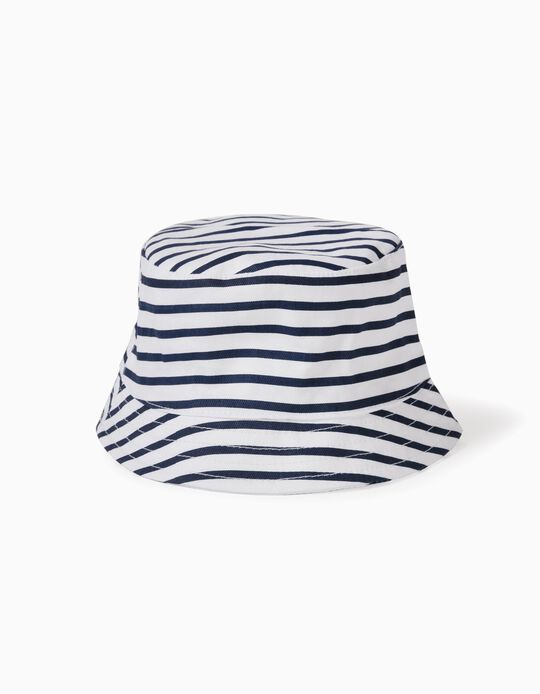 Striped Hat for Babies, Dark Blue/White