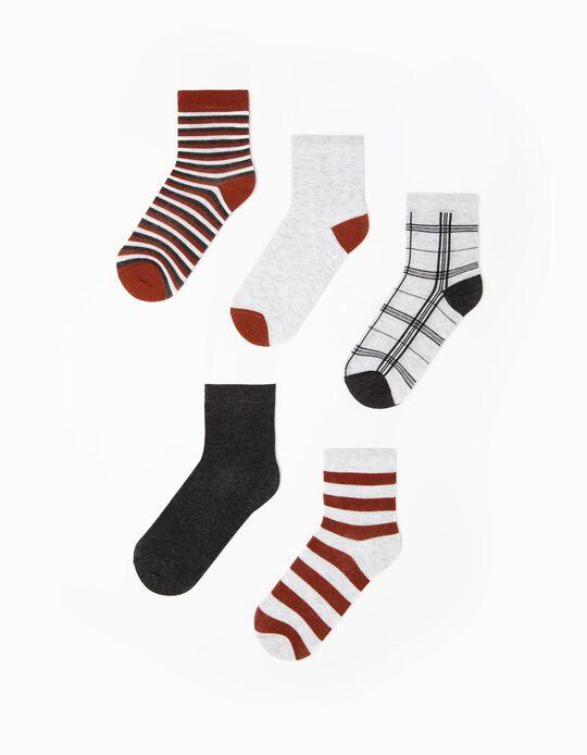 5 Pairs of Socks for Children, Multicoloured