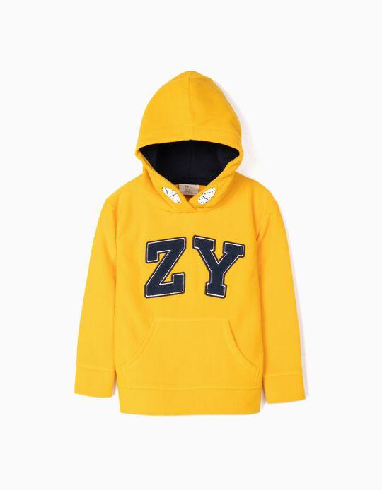 Sweatshirt Polar para Menino 'ZY', Amarelo