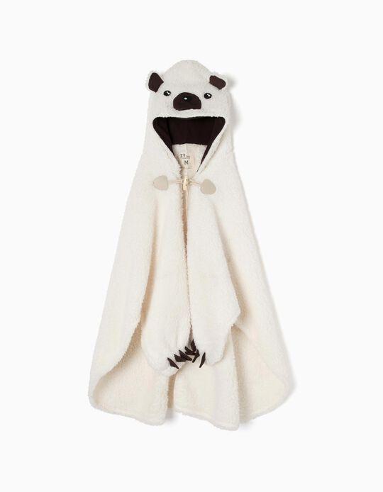 Manta-Roupão para Menino 'Panda' com Capuz e Luvas, Branco