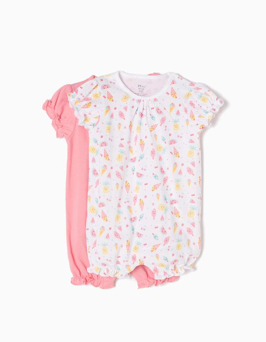 Pack 2 Babygrows Summer