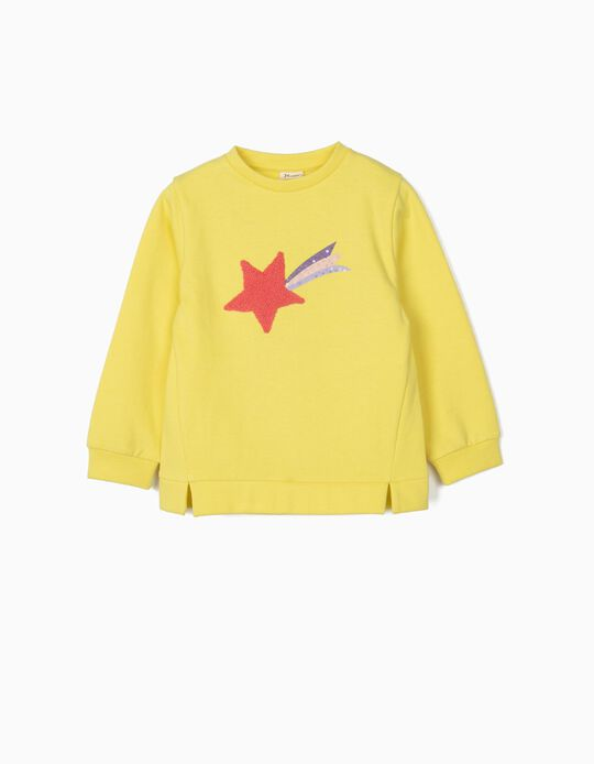 Sweat fille 'Star', jaune