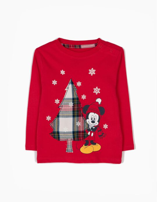 Camiseta de Manga Larga Mickey Christmas