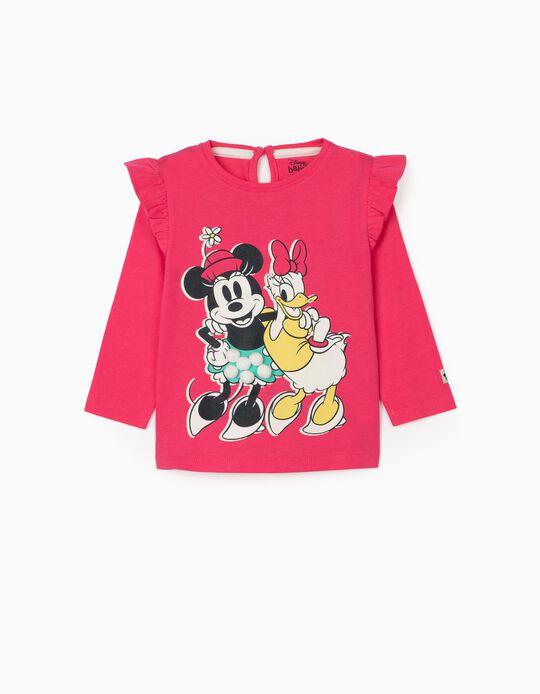 T-shirt Manga Comprida para Bebé Menina 'Minnie & Daisy', Rosa