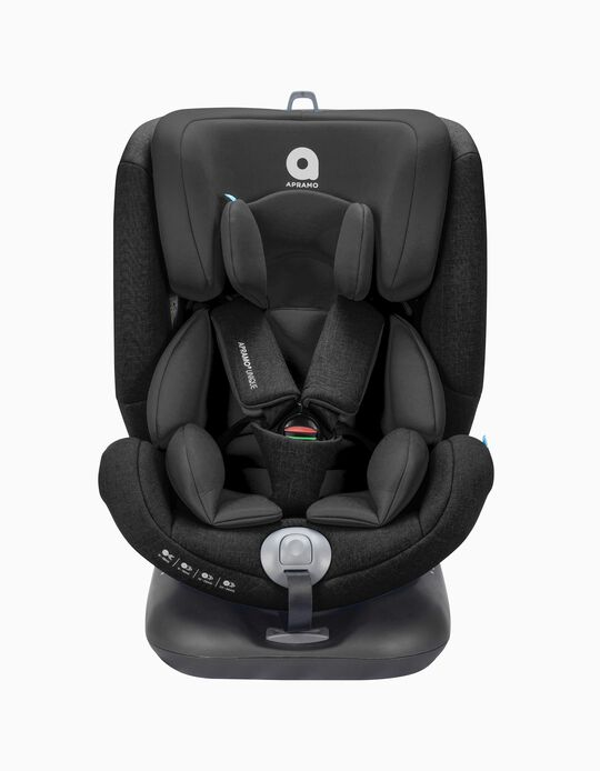 Car Seat Gr0/1/2/3 Unique Apramo Jet Black