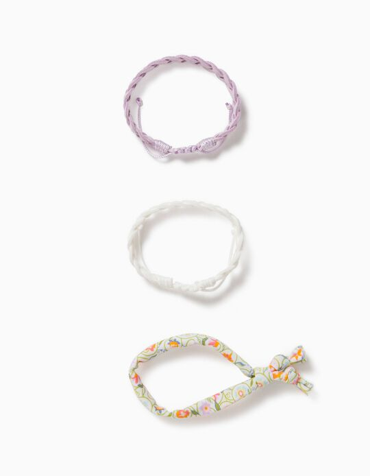 3 Bracelets for Girls, Multicoloured