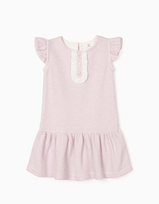 Vestido de Punto para Bebé Niña, Lila