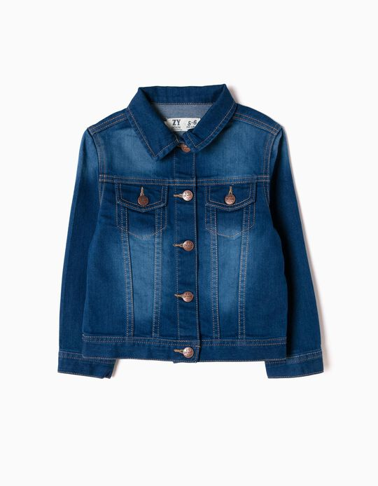 Denim Jacket for Girls, Blue