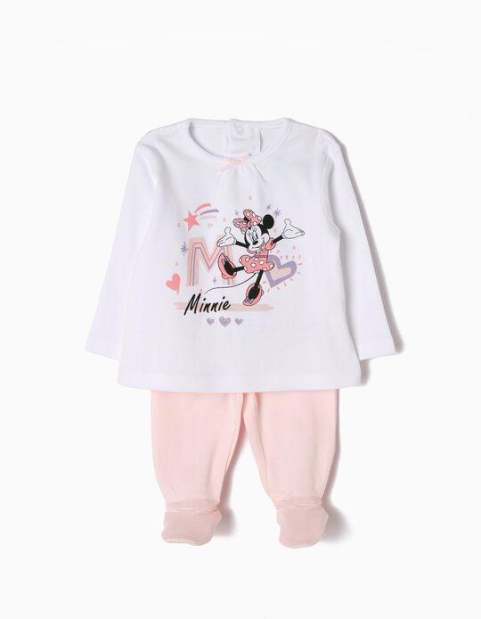 Pijama Manga Comprida e Calças Minnie