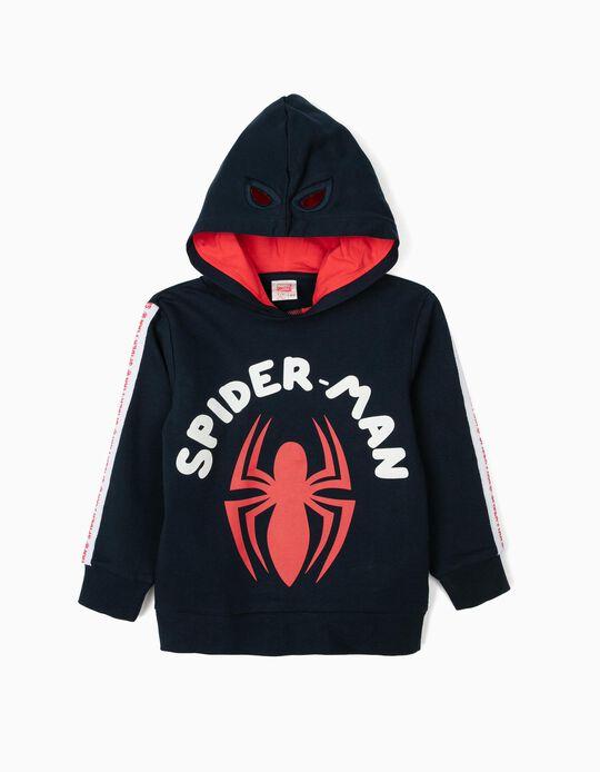 Sudadera con Capucha-Máscara para Niño 'Spider-Man', Azul Oscuro