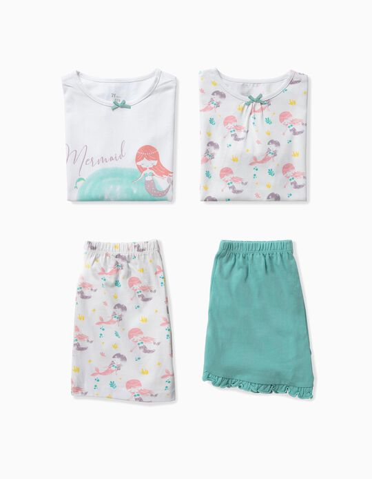 2 Pijamas para Niña 'Mermaid Friends', Multicolor