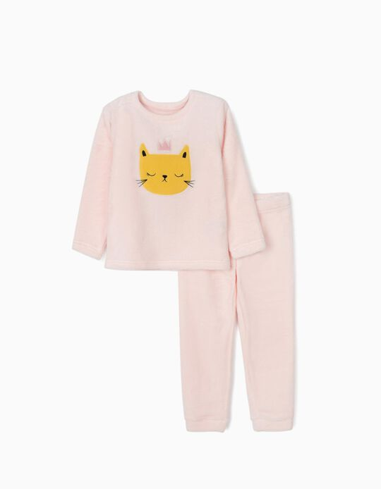 Pijama Coralina para Menina 'Cat Queen', Rosa