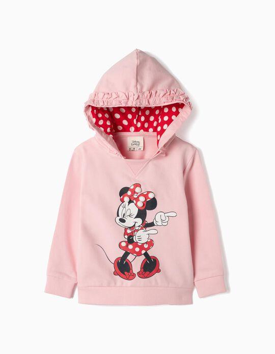 Sweatshirt com Capuz para Bebé Menina 'Minnie', Rosa
