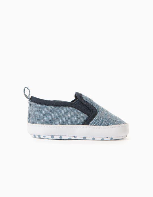 Zapatillas Slip-On para Recién Nacido, Azul