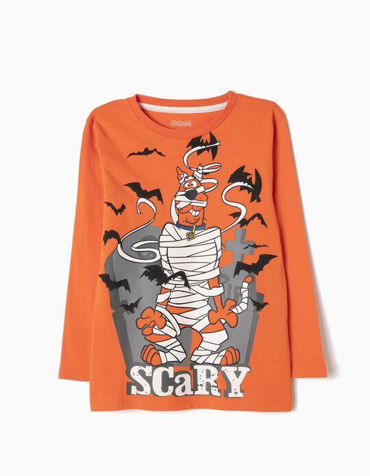 Camiseta Manga Larga Scooby-Doo Naranja