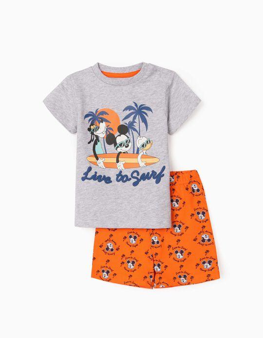 Pyjamas for Baby Boys, 'Mickey Mouse & Friends', Grey/Orange