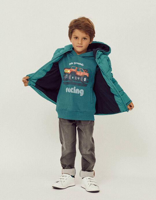 Sudadera para Niño 'Racing', Azul Turquesa