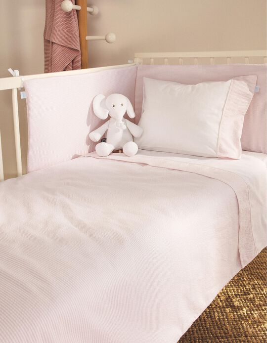 Bed Bumper Essential Pink Zy Baby