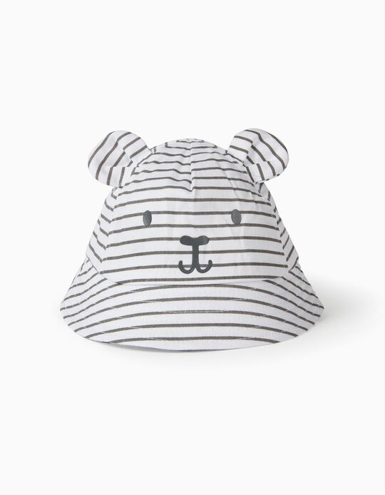 Chapéu para Bebé 'Cute Bear', Branco/Cinza