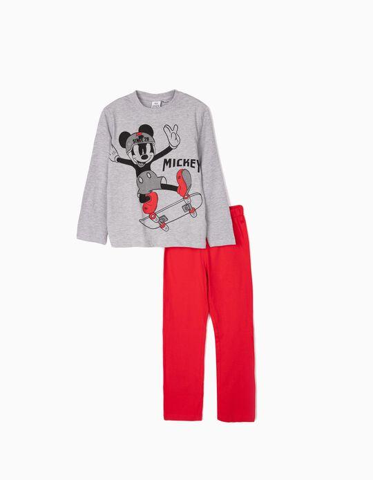 Pijama para Niño 'Mickey Since 20', Gris/Rojo