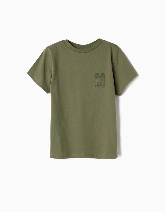 T-shirt para Menino 'Airlines', Verde