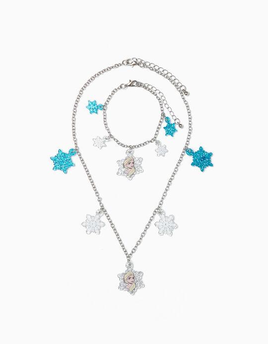 Collar + Pulsera para Niña 'Frozen', Plateado