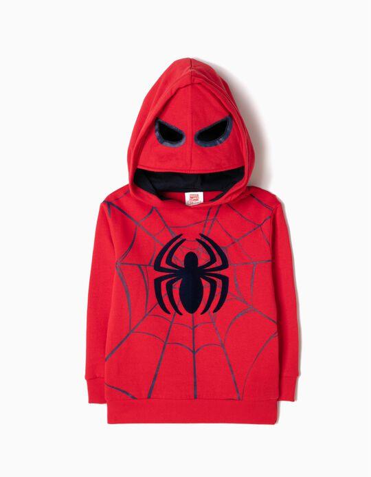 Sudadera con Capucha-Máscara Spider-Man