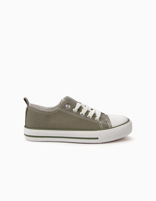 Zapatillas Infantiles '50's Sneaker' con Cordones, Verde