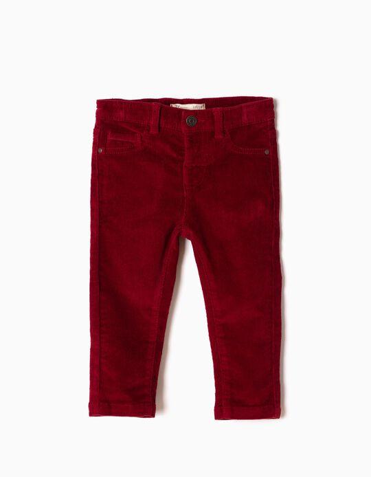 Pantalón de Pana Rojo Oscuro