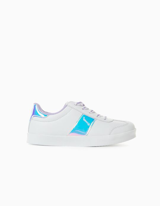 Trainers for Girls, 'ZY Retro', White/Lilac