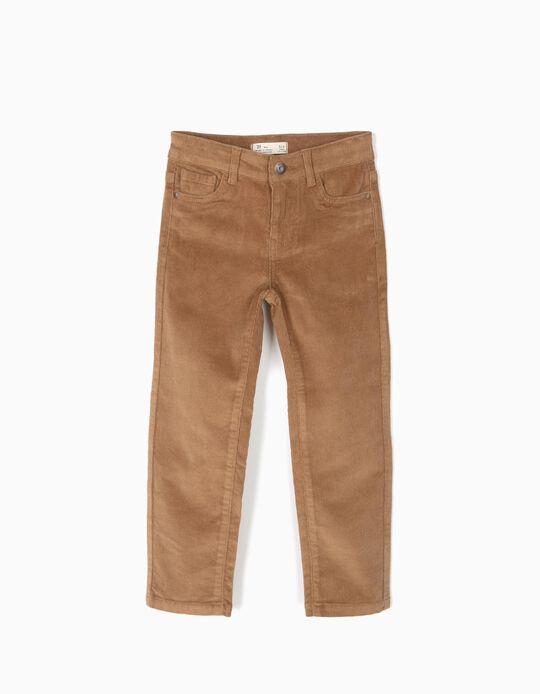Pantalón de pana camel