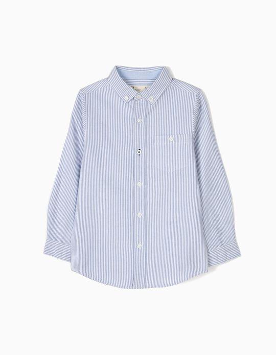 Camisa Menino Riscas Azuis B&S