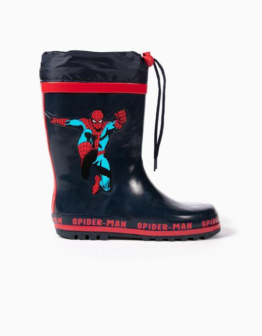Galochas de Borracha para Menino 'Spider-Man', Azul Escuro