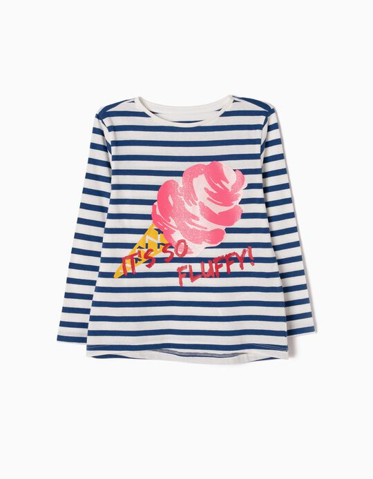Camiseta de Manga Larga a Rayas Ice Cream