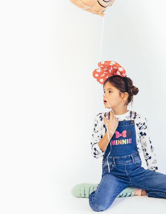 Jardineiras de Ganga para Menina 'Minnie', Azul