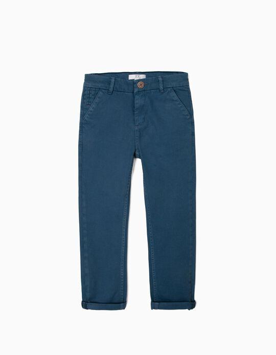 Pantalón Chino para Niño, Azul