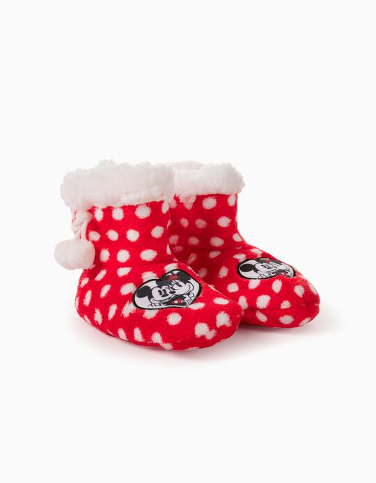 Slipper Boots for Girls, 'Minnie Mouse', Red