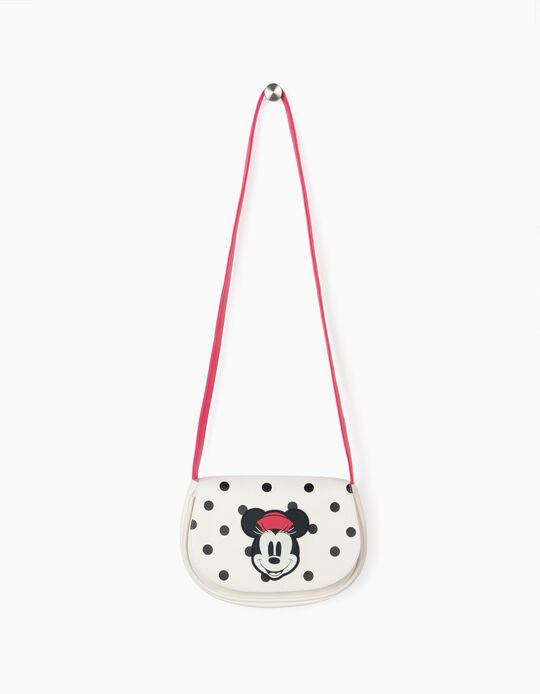 Crossbody Bag for Girls 'Pink Hat Minnie', White/Pink