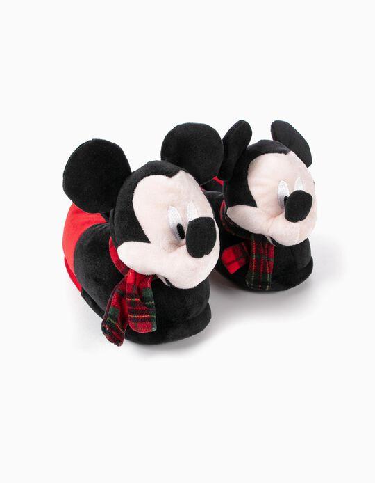 Pantufas para Menino 'Mickey Christmas', Preto/Vermelho
