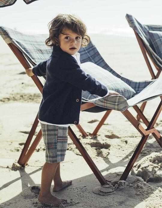 Casaco de Lã Bebé Menino Azul Marinho B&S