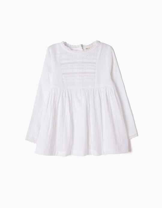 Blusa Vaporosa Blanca con Encaje