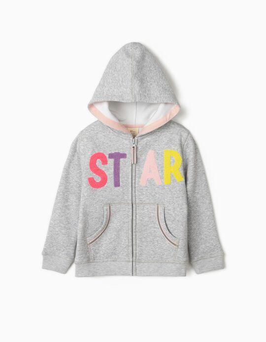Chaqueta con Capucha para Niña 'Star', Gris