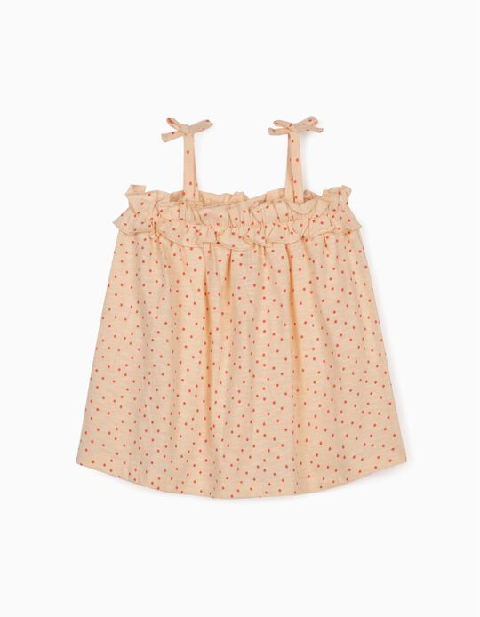 Top for Baby Girls, 'Dots', Light Pink