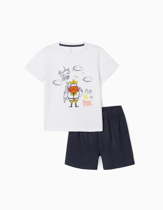 Pijama para Niño 'Play like a Pirate', Blanco/Azul