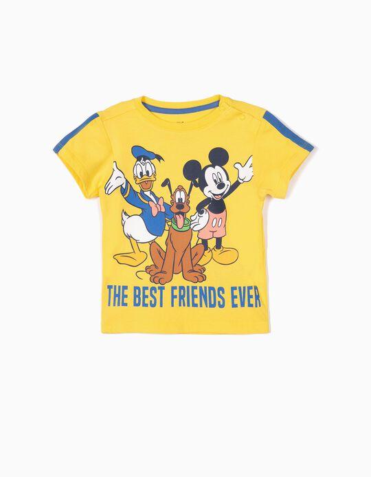 Camiseta para Bebé Niño 'Mickey & Friends', Amarillo