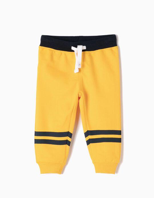 Pantalón de Chándal Amarillas con Rayas