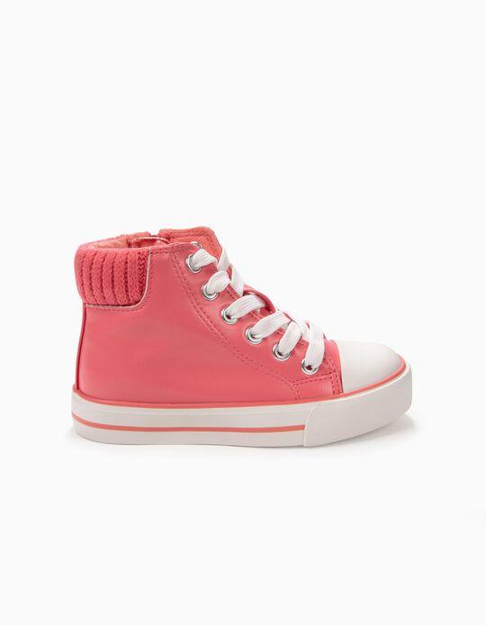 Zapatillas de Caña Alta Rosa