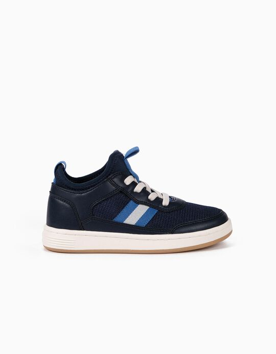 Trainers with Neoprene Sock for Boys, Blue